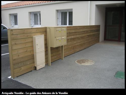 réalisation de la Sté FLOBOIS LA MOTHE ACHARD - claustra bois - Logements Vendée Habitat Talmont Saint Hilaire