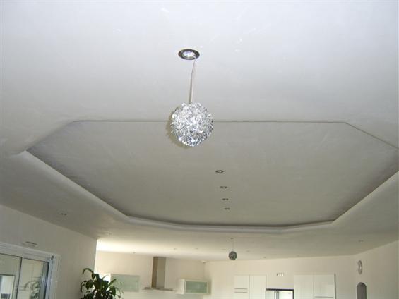 réalisation plafond déco avec éclairage à st jean de monts 85160
