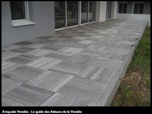 réalisation d'une terrasse bois en dalles - Foyer de Talmont Saint Hilaire - Travaux de la Sté FLOBOIS LA MOTHE ACHARD