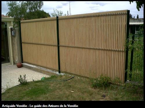 réalisation d'une clôture avec occultation à Luçon 85400.