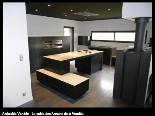 Trichet creation cuisiniste le langon for Plan de travail cuisine en verre