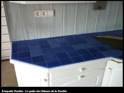 Carrelage cuisine plan de travail maison secondaire. Vendée 85000