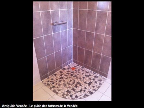 Carrelage murale et sol douche à italienne. Luçon 85400