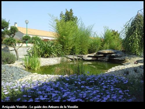 Création d'un bassin avec enrochement cascade-85150 La Chapelle-Achard