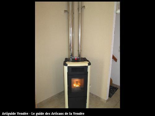 poêle à pellet distribution de chaleur à l étage total 92m2  poser a Luçon