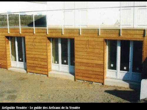 Rénovation bardage bois + ouverture