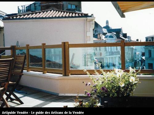 Réalisation d'une terrasse + balcon aux Sables d'Olonne