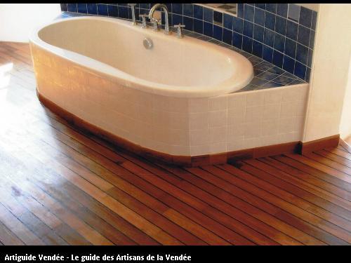 Réalisation salle de bain en bois