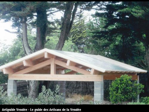 Réalisation préau ossature bois
