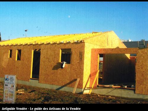 Construction maison en ossature bois en cours