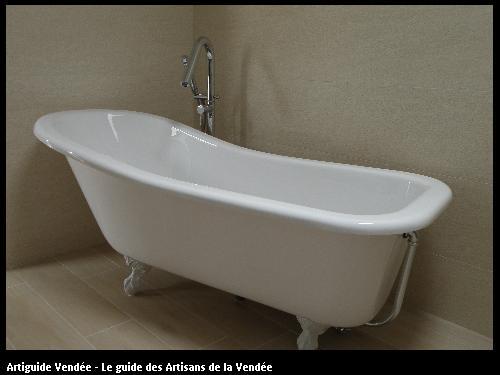 Fourniture et pose d'une baignoire