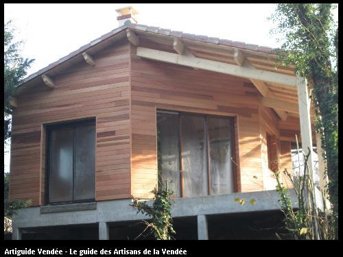 extension en bardage bois - red cedar - proche de la Sèvre nantaise à Cugand (85610)