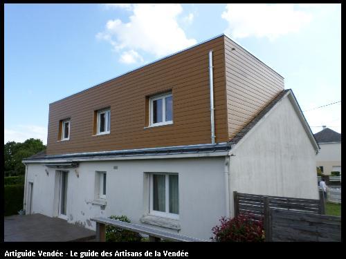 Cgm ossatures bois nantaise extension de maison cugand - Cout rehaussement toiture ...