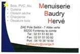 Menuiserie Baudry Hervé menuisier, aménagement extérieur, rénovation, Aménagement intérieur, terrasse, parquet, Abris de jardin, agrandissement, fenêtres, volets FONTENAY-LE-COMTE 85200