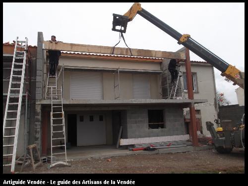 Agrandissement de balcon réalisé par l'entreprise Maconnerie des Landes basée à SAINT-AVAUGOURD-DES-LANDES (85540 Vendée)