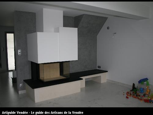 L'entreprise de peinture Jacques Bobin (85680 La Guérinière) a réalisé un stucco vénéziano (stuc) sur Noirmoutier (85330)