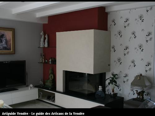 L'entreprise de peinture Jacques Bobin (85680 La Guérinière) a réalisé une pose de papier peint sur l'Epine (85740)