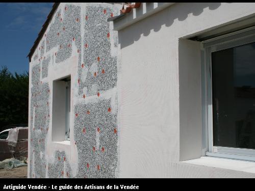 L'entreprise de peinture Jacques Bobin (85680 La Guérinière) a réalisé une Isolation par l'Extérieur, sur Noirmoutier (85330)