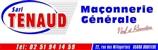 SARL Tenaud maçon, toiture, couvreur, enduit, rénovation, extension de maison, construction maison, agrandissement, clôture BOUFFERE 85600