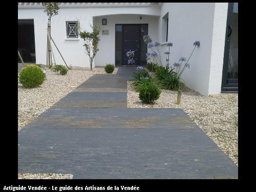 Palis d'ardoise coloris noir oxydé - 85440 Talmont St Hilaire