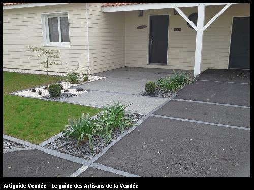 M paysage paysagiste la mothe achard for Dalle entree garage