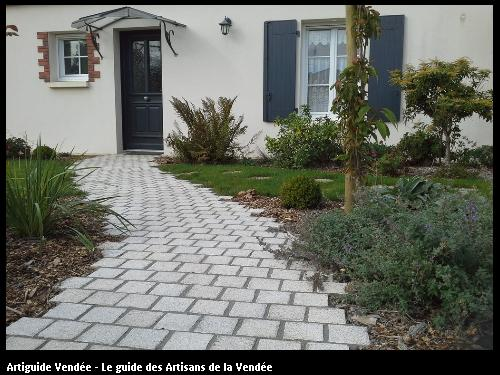 Pavés granit beige - 85150 ST JULIEN DES LANDES