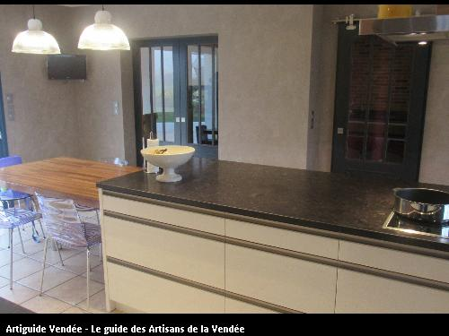 cuisine ikea 2 tons bois laqu beige sarl richard bniste 85800 givrand - Cuisine Beige Laquee