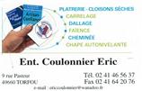 COULONNIER ERIC plâtrier, carreleur, rénovation TORFOU 49660