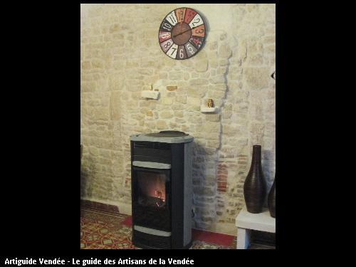poêle à pellet pierre ollaire   chauffe une surface de 130m2   commune de Nalliers