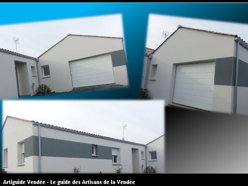 Maison réalisé en deux couleurs sur la commune de Sainte Foy 85150 Vendée