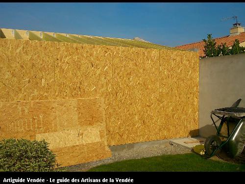Construction d'un garage en ossature bois sur la commune de St Georges de Pointindoux - Ets FLOBOIS LA MOTHE ACHARD