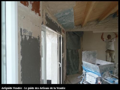 Travaux réalisés par l'artisan Plâtrier MIGUEL QUEBAUD basé à NOIRMOUTIER-EN-L'ÎLE 85330