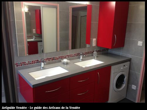 Atelier belouard leboeuf menuisier torfou Salle de bain avec plan de travail