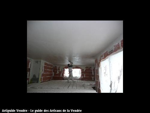 Plafond plâtre