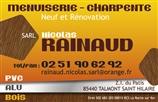 RAINAUD NICOLAS - menuisier - TALMONT-SAINT-HILAIRE 85440