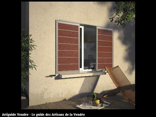 Volet réalisé par l'entreprise MILCENT HENRI ET FILS basée à SAINT HILAIRE DE RIEZ (85270)