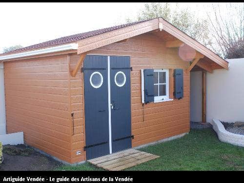 Abri de jardin réalisé par l'entreprise MILCENT HENRI ET FILS basée à SAINT HILAIRE DE RIEZ (85270)