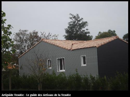 Réalisation d'une habitation par l'entreprise MACONNERIE DES LANDES basée à Saint-Avaugourd-des-Landes (85540)