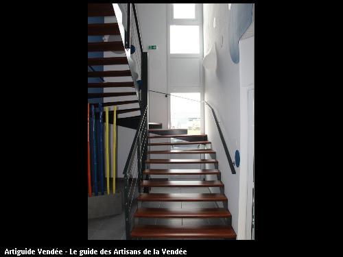 Escalier mixte bois-métal