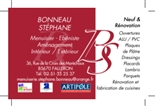 BONNEAU Stéphane - menuisier - FALLERON 85670