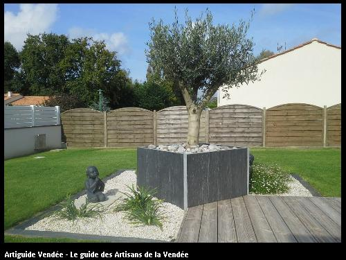 M paysage paysagiste la mothe achard for Amenagement jardin olivier