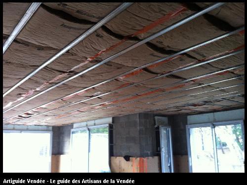 isolation du plafond en cours