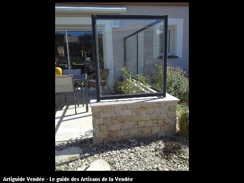 Muret en Calcaire - 85150 La Mothe-Achard.