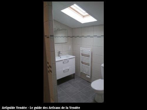 Réalisation complète d'une salle d'eau commune de Maillé 85420.