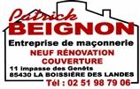Beignon Patrick Entreprise de maçonnerie - maçon - LA BOISSIERE-DES-LANDES 85430