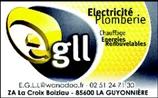 EGLL - électricien - LA GUYONNIERE 85600