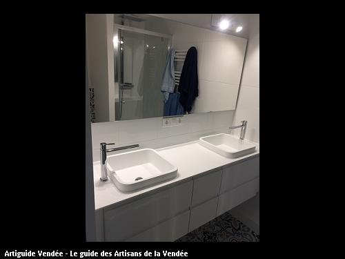 Réalisation deux vasques salle de bain