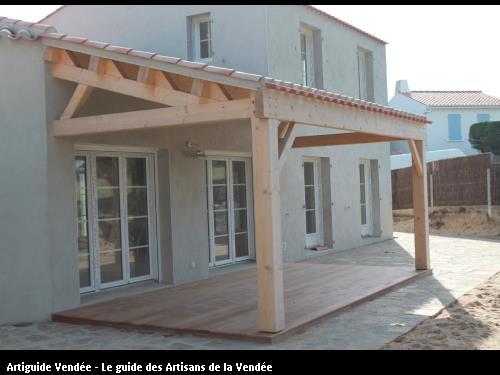 Réalisation d'un préau sur Noirmoutier