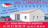 Chauvet fils - maçon - MOUTIERS-LES-MAUXFAITS 85540