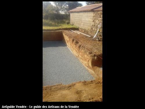 Terrassement d'une piscine